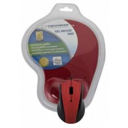 Esperanza EM125R Optická myš, 1200 DPI, USB + Gélová podložka, červená, Blister EM125R - 5901299909140
