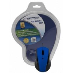 Esperanza EM125B Optická myš, 1200 DPI, USB + Gélová podložka, modrá, Blister EM125B - 5901299909157