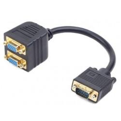 Gembird adaptér VGA (M) - 2x VGA (F), 20cm CC-VGAX2-20CM