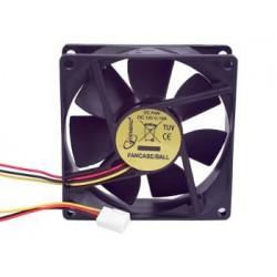 Gembird ventilátor pre PC case, 80x80mm, 3-pin, guličkové ložisko FANCASE/BALL