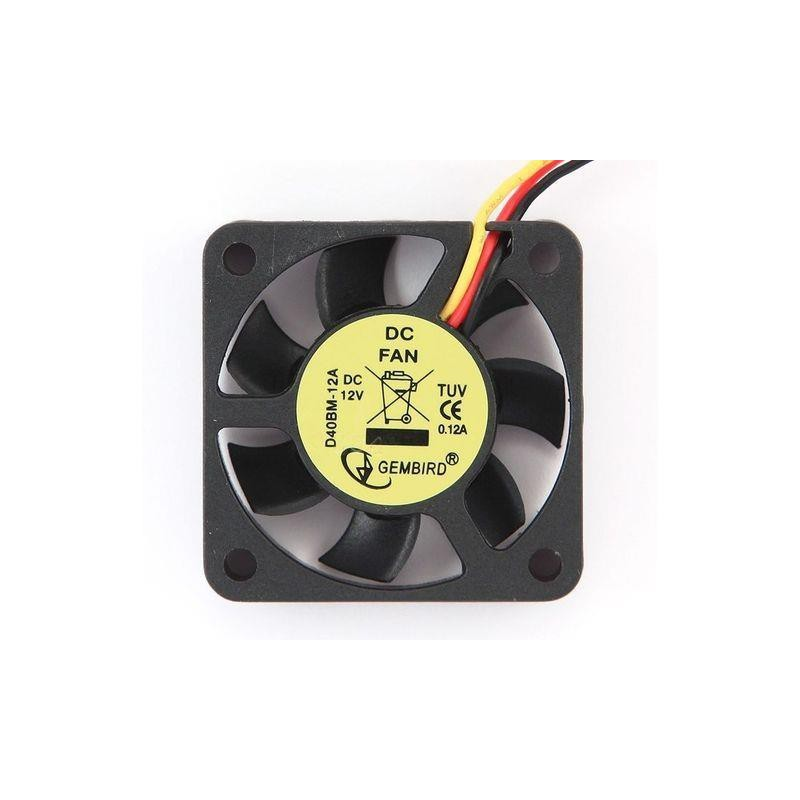 Gembird 40x40x10mm DC vetrák do grafickej karty, 3-pin 12V D40BM-12A