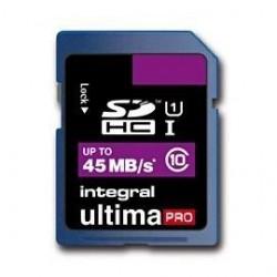INTEGRAL UltimaPro SDHC UHS-I karta 16GB Class 10 (rýchlosť čítanie až 45MB/s) INSDH16G10-45