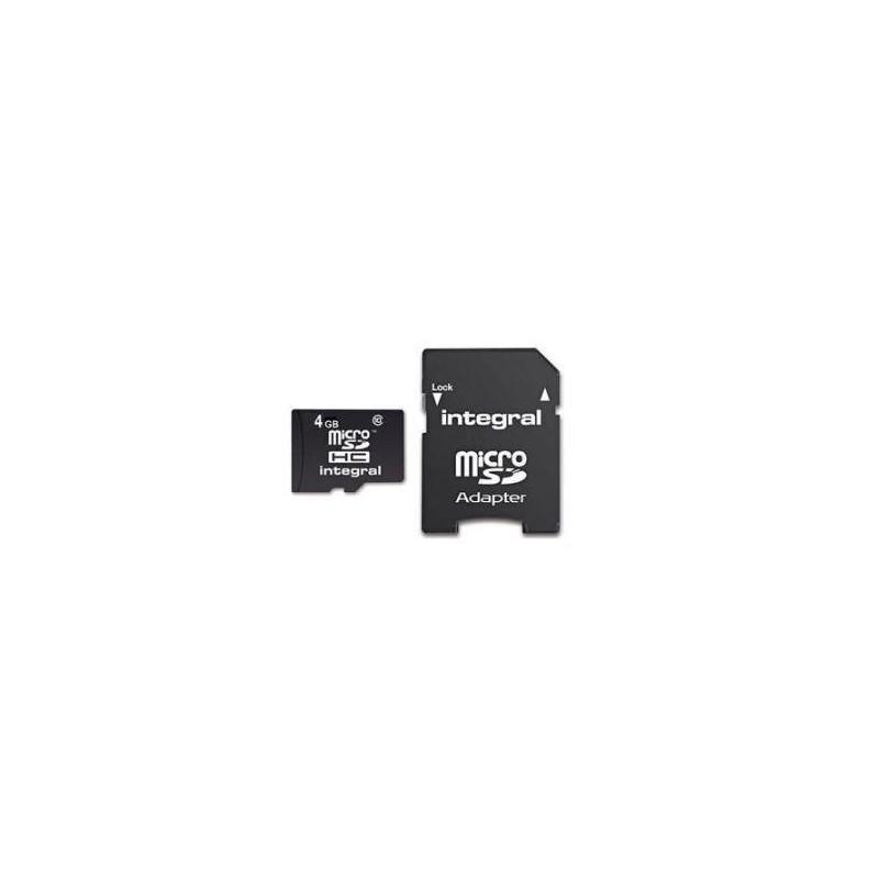 INTEGRAL Micro SDHC karta 4GB Class 4 + Adaptér INMSDH4G4V2