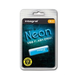 INTEGRAL Drive Neon 4GB USB 2.0 flashdisk, modrý INFD4GBNEONB