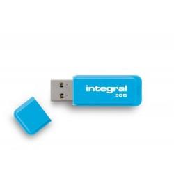 INTEGRAL Neon 8GB USB 2.0 flashdisk, modrý INFD8GBNEONB