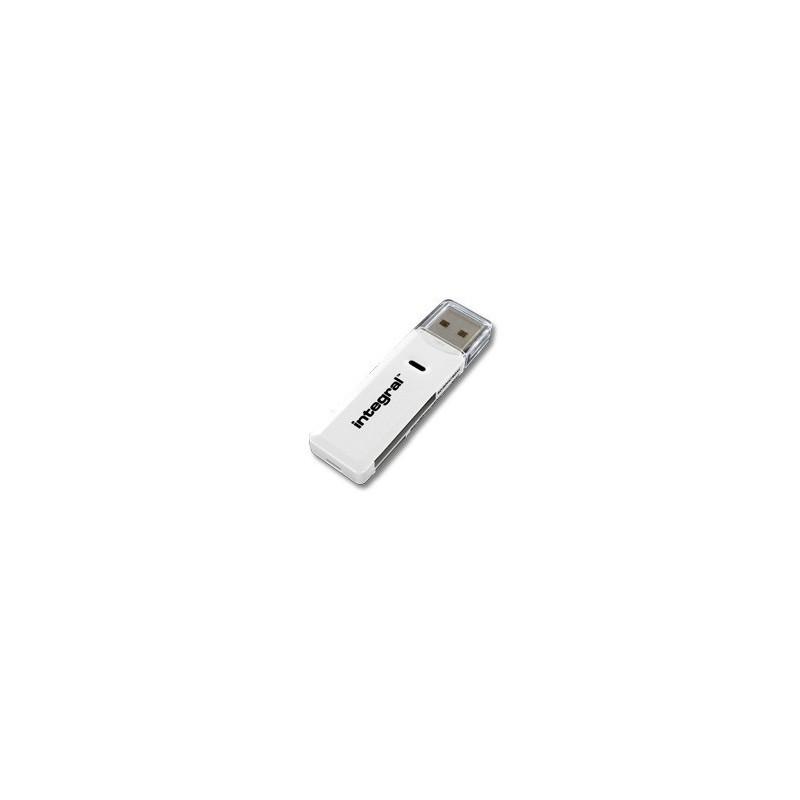 INTEGRAL čítačka pamaťových kariet SD Dual Slot USB 2.0 SDHC/SDXC, biela INCRSDMSD