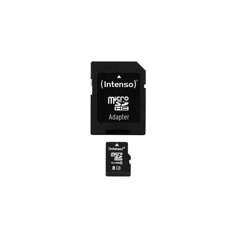 Intenso micro SD 8GB SDHC card class 10 3413460