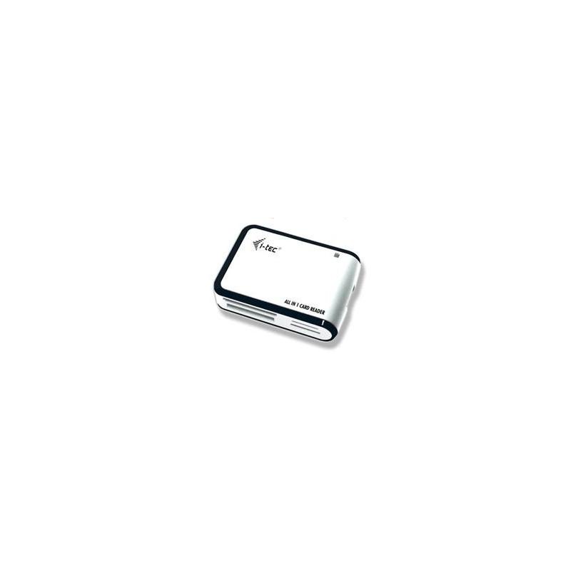 i-tec USB 2.0 All-in-One Memory Card Reader WHITE/BLACK Travel čtečka USBALL3-W