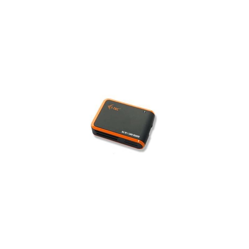 i-tec USB 2.0 All-in-One Memory Card Reader - BLACK/ORANGE Travel čtečka USBALL3-B