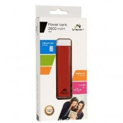 TRACER - Power Bank 2600 mAh cervena TRABAT44379