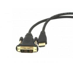 Natec kábel HDMI(M)-DVI-D(M)(18+1) pozlátený 3m, blister NKA-0420