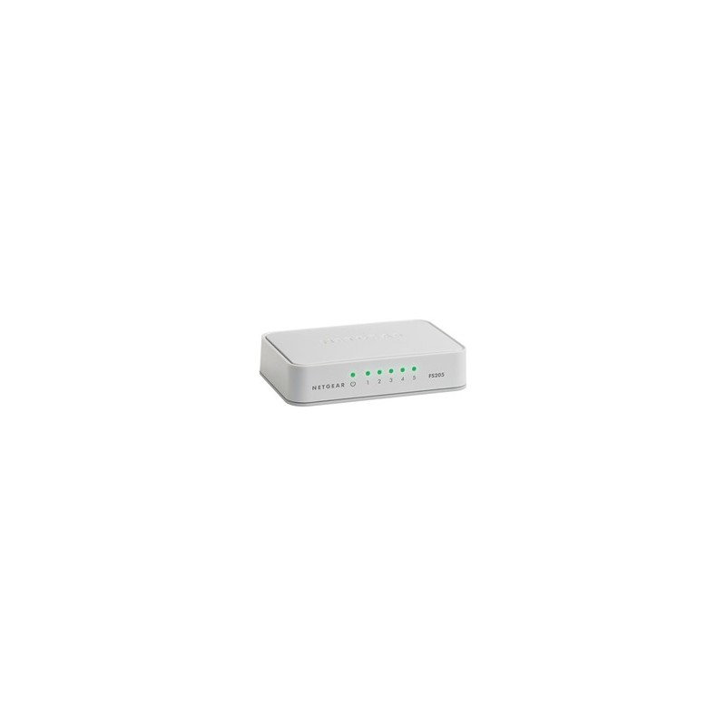 Netgear 5-Port Fast Ethernet Desktop Unmanaged Switch (FS205) FS205-100PES