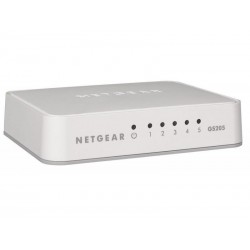 Netgear 5-Port Gigabit Desktop Unmanaged Switch (GS205) GS205-100PES