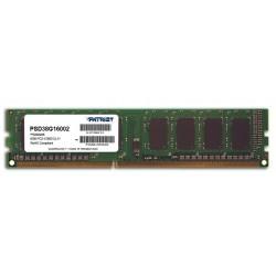 Patriot 8GB 1600MHz DDR3 CL11 DIMM 1.5V PSD38G16002