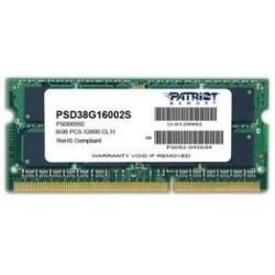 Patriot 8GB Signature Line 1600MHz DDR3 CL11 SODIMM PSD38G16002S