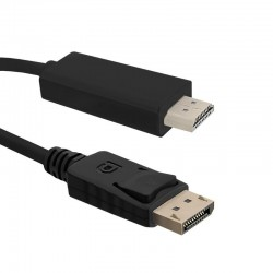 Qoltec Cable DisplayPort v1.2 / HDMI | 4Kx2K | 1m 50435