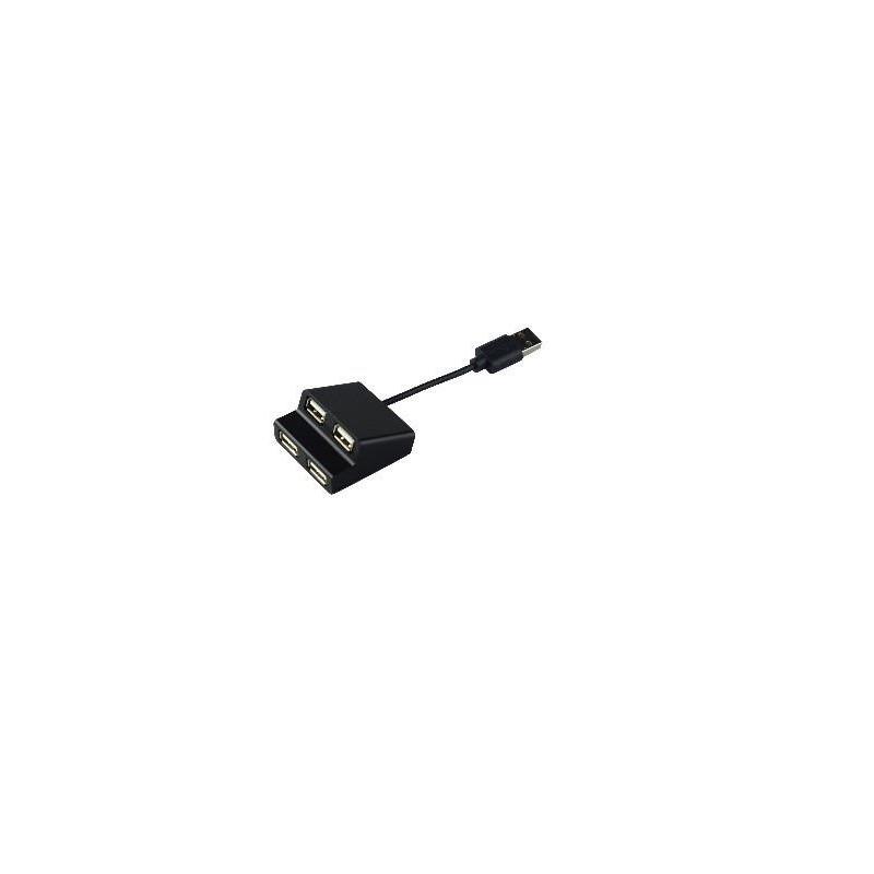 Tracer čítačka kariet USB 2.0 H9 4 ports, čierna TRAPOD45394