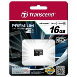 Transcend Micro SDHC karta 16GB Class 10 UHS-I TS16GUSDCU1