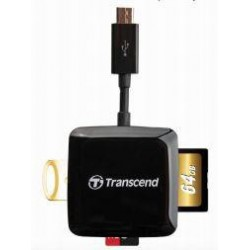 Transcend OTG externá čítačka pamaťových kariet, USB/micro USB, čierna TS-RDP9K
