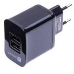 Connect IT nabíjací adaptér 2xUSB 3.1A cierny CI-463