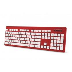 Esperanza EK130R Káblová, vodovzdorná klávesnica USB - SINGAPORE EK130R - 5901299925812