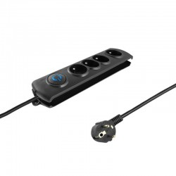 Surge protector QOLTEC | 4 power socket | 1.5m 50104