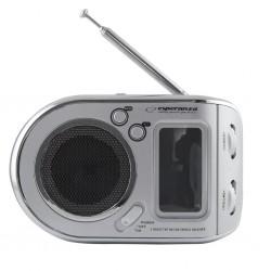Esperanza ERB101W PARROT prenosný rádiobudík, strieborný ERB101W - 5901299908105