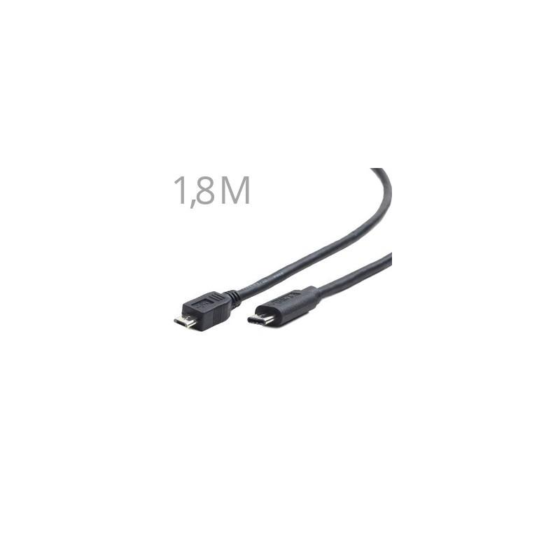 GEMBIRD Kábel Micro USB 2.0 - USB 3.1 Type C 1,8M CCP-USB2-mBMCM-6