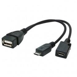 GEMBIRD Kábel USB 2.0 samica do micro USB 2.0 A/B A-OTG-AFBM-04