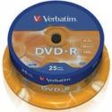 DVD - R Verbatim 4.7GB 16x CAKE 25pcs 43522 43522P