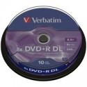 DVD + R VERBATIM DL 8.5 GB 8x 10cake 43666 43666P