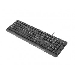 Natec Keyboard TROUT SLIM, USB, US layout, black NKL-0967