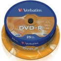 DVD - R Verbatim 4.7GB 16x CAKE 25pcs printable 43538P