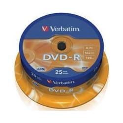 DVD - R Verbatim 4.7GB 16x CAKE 25pcs printable 43538P