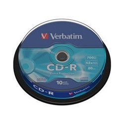 CD MED VERBATIM 700MB EXTRA 52speed 10cake 43437P