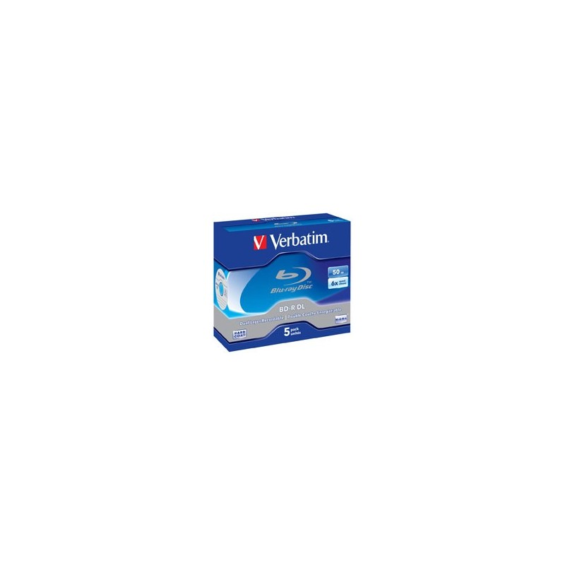 Verbatim BD-R DL 50GB 6x 5 Pack JC 43748 43748P