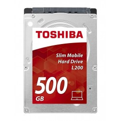 Internal HDD Toshiba L200 2.5' 500GB SATA3 5400RPM 8MB 7mm HDWK105UZSVA