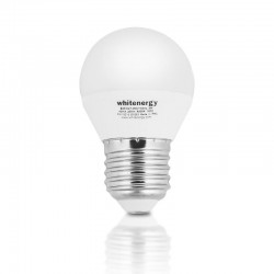 Whitenergy LED žiarovka | E27 | 8 SMD2835 | 7W | 230V tepla biela | guľa G45 10362