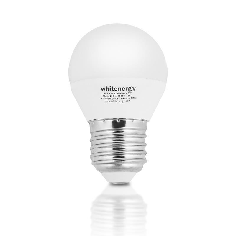 Whitenergy LED žiarovka   E27   8 SMD2835   7W   230V tepla biela   guľa G45 10362