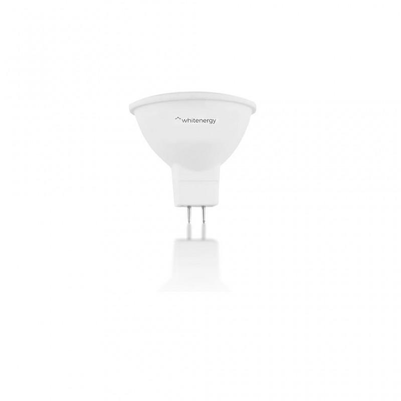 Whitenergy LED žiarovka | GU5.3 | 10 SMD 2835 | 5W | 230V| mlieko | MR16 10367
