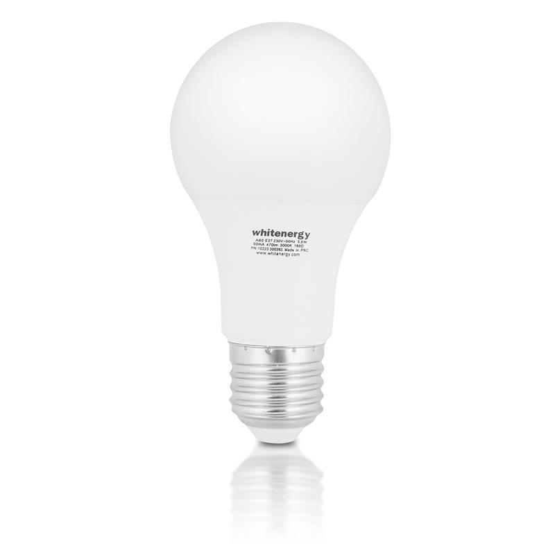 Whitenergy LED žiarovka | E27 | 9 SMD3528 | 10W | 230V tepla biela | A60 10389