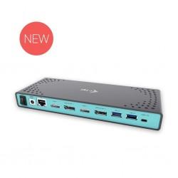 i-tec USB 3.0/USB-C 5K univerzální dualní Dokovací stanice 2x HDMI 2x DP GLAN CADUAL4KDOCK