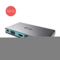 i-tec USB-C Travel Dokovací Stanice 1x HDMI 4K Ultra HD lub VGA 1x GLAN PD Data C31TRAVELDOCKPD