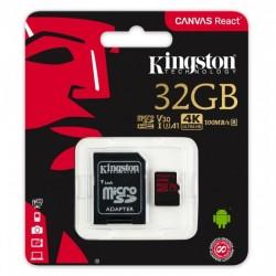 KINGSTON Micro SDHC 32GB UHS-I V30 + adaptér SDCR/32GB