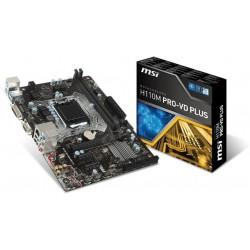 MSI H110M PRO-VH PLUS s. 1151, H110, 2x PCI-E x1, 1x PCI-E x16, 2x DDR4, SATA III, D-SUB, HDMI, uATX