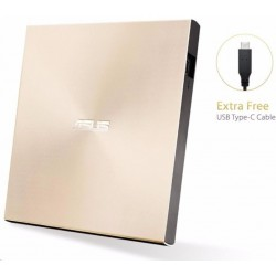 External DRW Asus SDRW-08U9M-U, USB Type-C and Type-A, Ultra-Slim, Gold SDRW-08U9M-U/GOLD/G/AS
