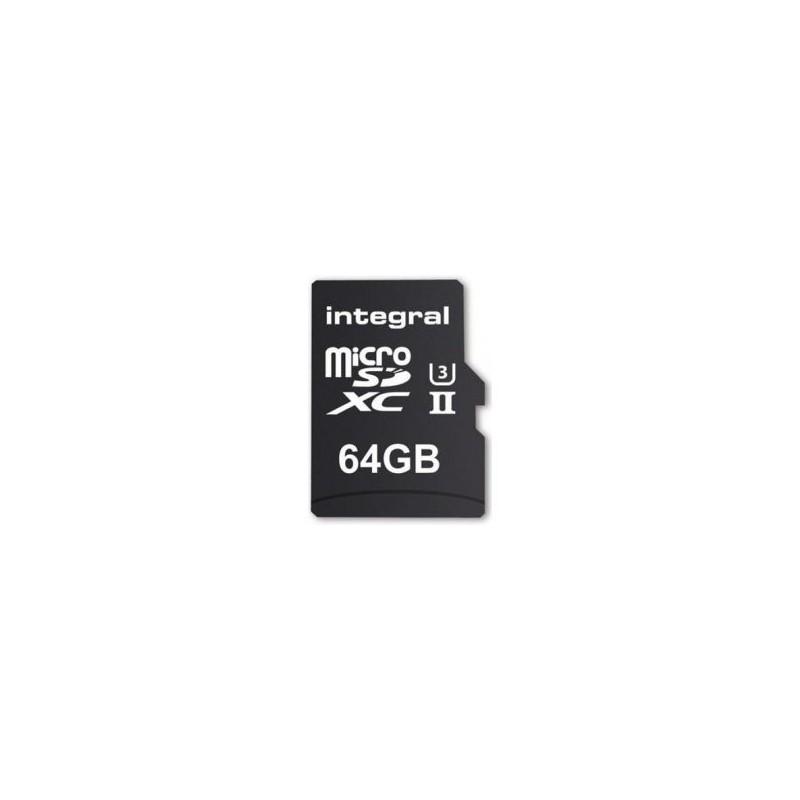 Integral microSDXC 280-100MB UHS-II V60 + SD Adapter, 64GB INMSDX64G-280/100U2