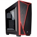 PC case Corsair Carbide Series SPEC-04 Windowed ATX Mid-Tower, Black/Red CC-9011107-WW