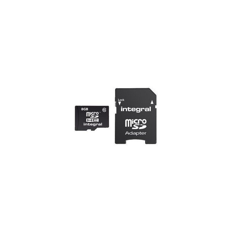 Integral micro SDHC/XC Cards CL10 8GB - Ultima Pro - UHS-1 90 MB/s transfer INMSDH8G10-90U1