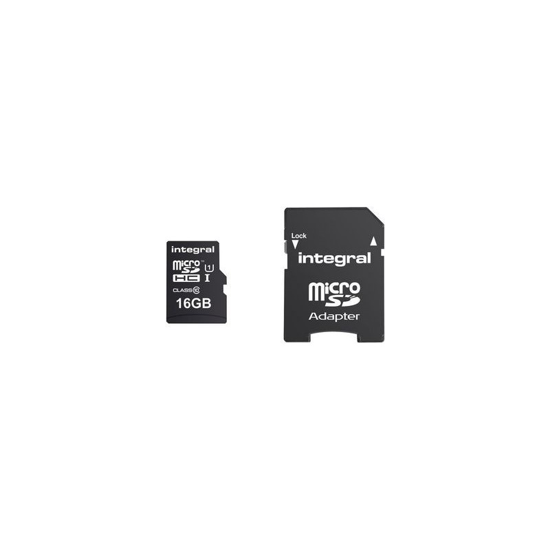 Integral micro SDHC/XC Cards CL10 16GB - Ultima Pro - UHS-1 90 MB/s transfer INMSDH16G10-90U1
